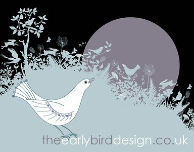Early Bird Greetings card