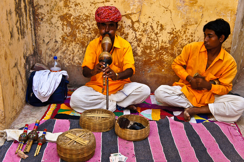 What is a trip to India without a snake charmer?
