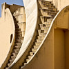 Another Jantar Mantar device. These huge buildings are exquisitely crafted and highly accurate astronomical devices. There are many different devices here, each a mathematical marvel.