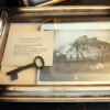 """The house is long gone, but the key is in the collection of the Leffingwell House Museum, located at 348 Washington Street. See their website at:   <a href=""""http://www.leffingwellhousemuseum.org"""">http://www.leffingwellhousemuseum.org</a><br /> I haven't yet visited the museum, so I don't know if it is on permanent display."""