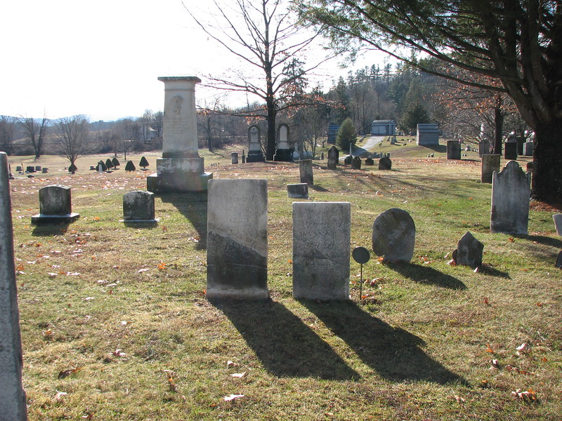 In the center of the photo are the graves of Fenner Arnold and his wife
