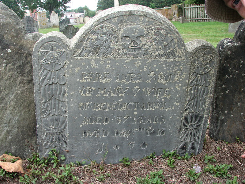 Mary's stone as it appeared in 2016