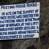 Sign on the cliff face