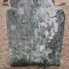 """This is the headstone of Hannah Waterman Arnold, Benedict's mother. The inscription reads: """"In memory of Hannah, ye well beloved wife of Capt. Benedict Arnold & daughter of Mr John & Elizabeth Waterman (She was a pattern of piety, patience and virtue) who died Aug. 15th 1759 Aetatis Sue 52"""""""