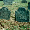"""These are the headstones of two of Benedict's sisters who died during a yellow fever epidemic which swept Norwich in 1753. Benedict was at boarding school in Canterbury at the time. The inscriptions read:  """"Elizabeth ye daughter of Benedict & Hannah Arnold died Sept. 29, 1753, aged 3 years, 10 mo. & 11 days""""  """"Mary daughter of Benedict & Hannah Arnold died September 10th 1753 aged 8 years, 3 mo. & 4 days"""""""