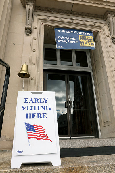 Early voting for the 2016 presidential election started on Monday. On Tuesday it was still going strong in North Central Massachusetts. Early Voting in Leominster was at City Hall. SENTINEL & ENTERPRISE/JOHN LOVE
