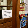Early voting for the 2016 presidential election started on Monday. On Tuesday it was still going strong in North Central Massachusetts. This sign in the Lunenburg Town Hall pointed voters in the right direction. SENTINEL & ENTERPRISE/JOHN LOVE