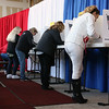 Many came out to the early voting in Fitchburg on Tuesday.  SENTINEL & ENTERPRISE/JOHN LOVE