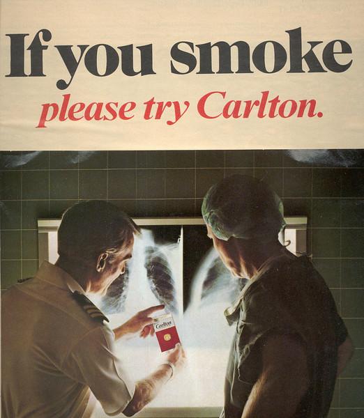Carlton-If you Smoke-chest x-ray-300