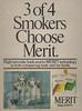 3 of 4 Smokers Choose Merit-monkeys smoking