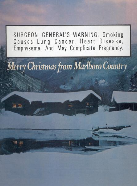 Warning Label-Merry Christmas from Marlboro