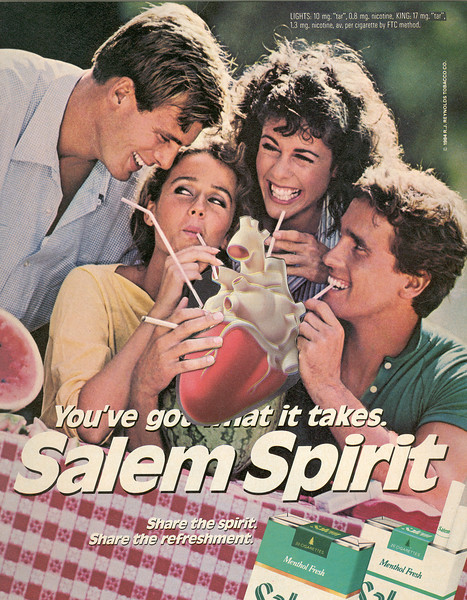 Salem Spirit-sucking from heart with straws