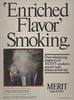 Merit- Enriched Flavor Smoking-man in cloud of smoke