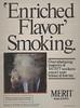 Merit- Enriched Flavor Smoking-man in cloud of smoke
