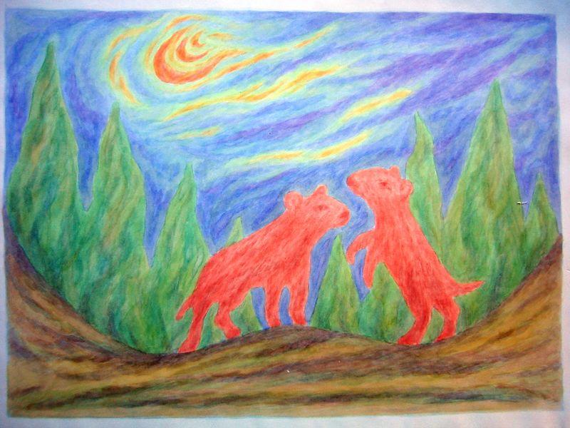 Hush Puppies (watercolor)