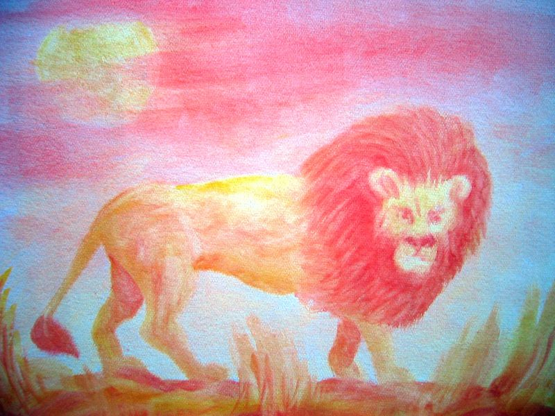 Lion (watercolor)