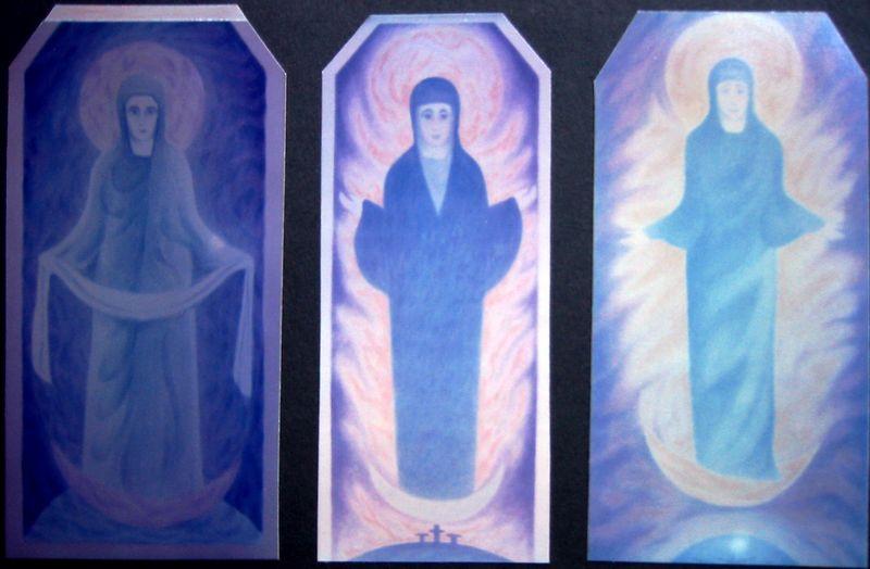 Three Sophias (watercolor and acrylic)