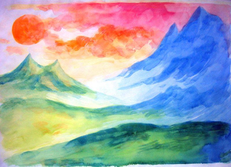 Hawai'i Landscape--study (watercolor)