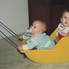 Christmas 1988 - 9 months. Casey (front) and Cousin Jamie.