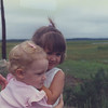 Aug 1990 2 1/2 yrs old with Cousin Jamie at the shore