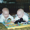 Sept. 88' -  6 mos old. Casey (right) with Cousin Adam (left) at Grandma Gil's house.