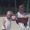 Labor Day 1989. Casey (left) and Cousin Jamie at the playground across from Jamie's house. 1 1/2 yrs old.