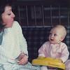 Mom & Casey; 11 months - Utah March 1989