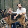 Casey, her dad and Annie. Darby Creek - fall 2000.