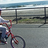 Enjoying a bike ride on the Sea Isle City promenade.