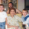 1995 - Casey (age 7) with her dad, brother, Brett and Great Grandmother Sadie Berger (Joel's mother's mother)