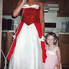 Casey was so excited to see Lauri Corey all dressed up before heading out to her senior prom. Casey was about 3 years old.