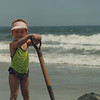 1991, 3 yrs old.  Digging a hole on the beach!