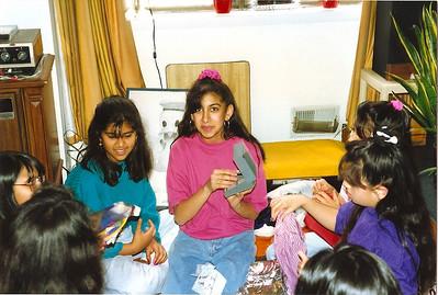 rachana and lina at a birthday party.