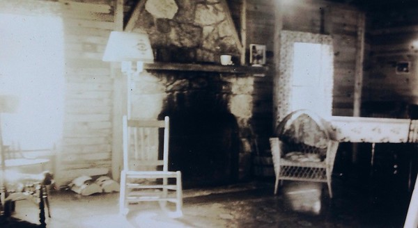 Interior of cabin #9,  early 1930's