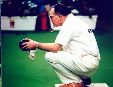 Bowls champion David Bryant, 1980.
