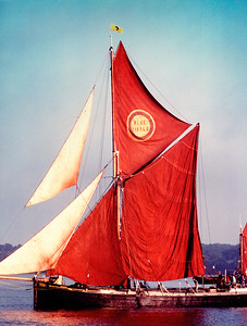 Sailing barge race, East coast 1981   .