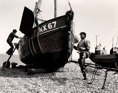 FISHING BOAT SUSSEX 1972 BW