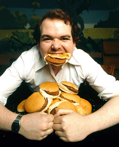 Hamburger eating champion, 1978.