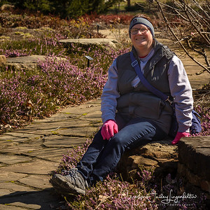 Lisa in the Rhododendron Garden