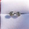 1.00ctw(est) Old European Bezel Stud Earrings 7
