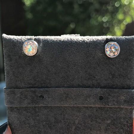 1.00ctw(est) Old European Bezel Stud Earrings
