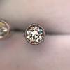 1.00ctw(est) Old European Bezel Stud Earrings 8