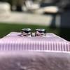 1.05ctw Transitional Cut Diamond Bezel Earrings, Platinum 3