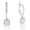 1.10ctw Cushion Cut Diamond Dangle Earrings 0