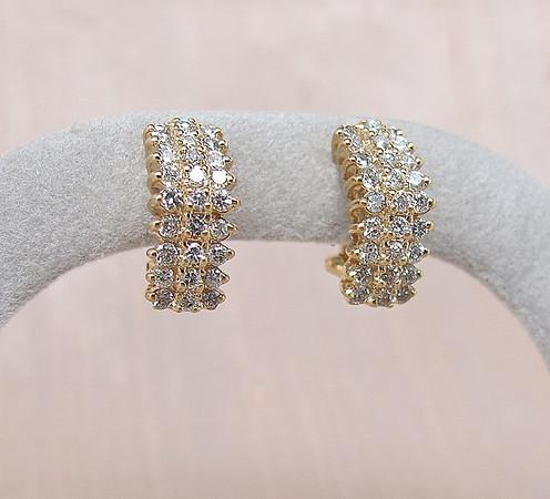 1.10tcw Diamond Huggie Earrings