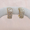 1.10ctw Diamond Cluster Huggie Earrings 1