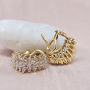 1.10ctw Diamond Cluster Huggie Earrings 0