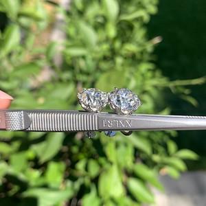 11.45ctw Old Mine Cushion Cut Diamond Earrings, GIA I J VS1 VS2