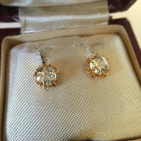 1.15ctw Victorian Old European Cut Diamond Stud Earrings
