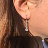1.18ctw Vintage Old European Cut Diamond Buttercup Drop Earrings 8